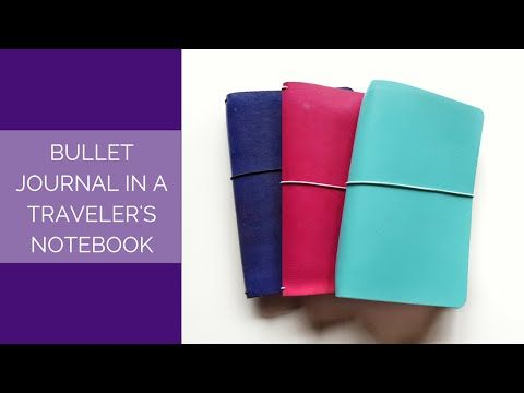How I Bullet Journal in a Traveler's Notebook – Pretty Prints & Paper
