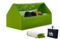 Ca.Mia, uma cama inflável dobrável que cabe em uma sacola