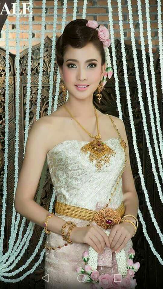 Thai Traditional Dress Wedding Clothes Khmer Brides Style Beautiful Asian