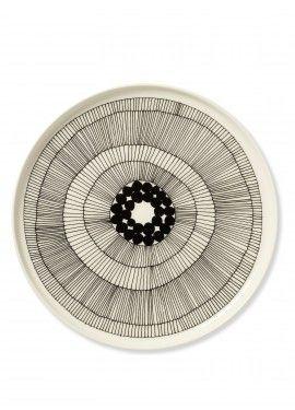 "Porcelain by Marimekko. ""Siirtolapuutarha"" plate (pattern by Maija Louekari).  (I need new porcelain -but oh what to choose??)"
