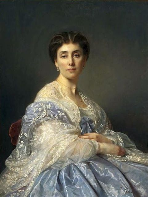 Portrait of Aleksandra Zatlerowa 1862 | In the Swan's Shadow