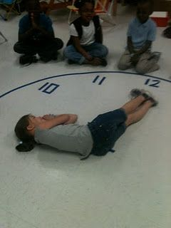 What a fun way for students to learn how to tell time. Movement!