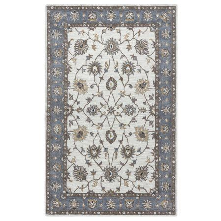 Rizzy Home Valintino Woolen Rug In Taupe Color 9'x12', Blue