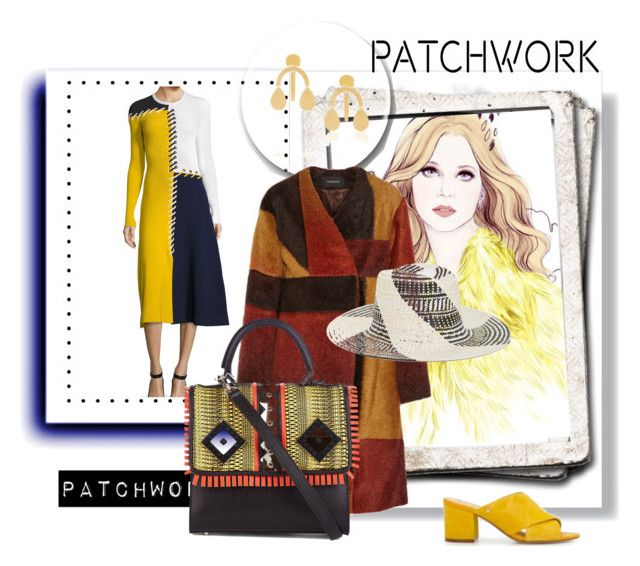 """Patchwork Universe"" by peeweevaaz ❤ liked on Polyvore featuring Annie Costello Brown, Thakoon, Les Petits Joueurs, BCBGMAXAZRIA, outfit, patchwork, polyvoreeditorial and polyvorefashion"