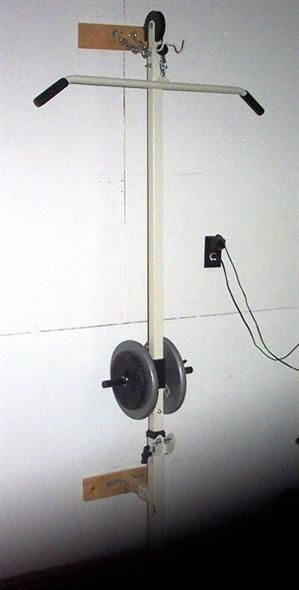 Homemade Wall Mounted Lat Tower. Lat pulldown on a budget.
