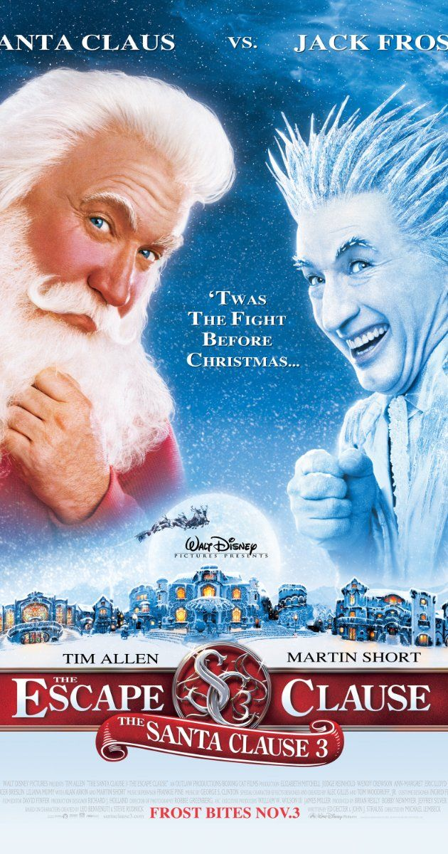 Loved it!  Tim Allen  Santa, aka Scott Calvin, is faced with double-duty: how to keep his new family happy, and how to stop Jack Frost from taking over Christmas.