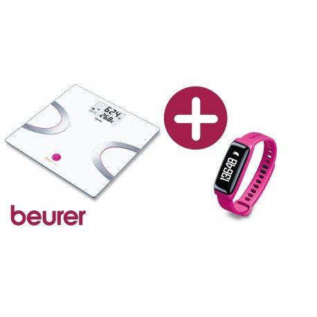 Balance  impédancemètre Beurer BF 710 et Trackeur AS 81 Bodyshape - MaFutureSanté