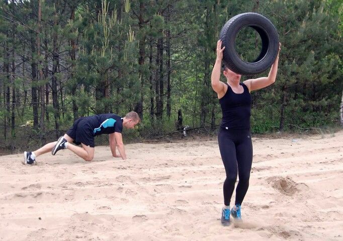 Trening w lesie
