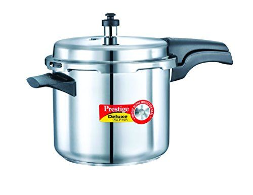 Prestige 20603 Deluxe Alpha Stainless Steel 3.5 L Pressure Cooker (Induction Bottom,Outer Lid) on November 12 2016. Check details and Buy Online, through PaisaOne.