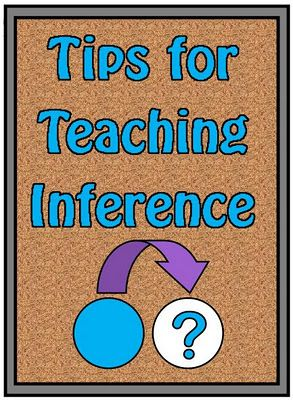 Tips for Teaching Inference http://www.minds-in-bloom.com/2012/02/tips-for-teaching-inference.html