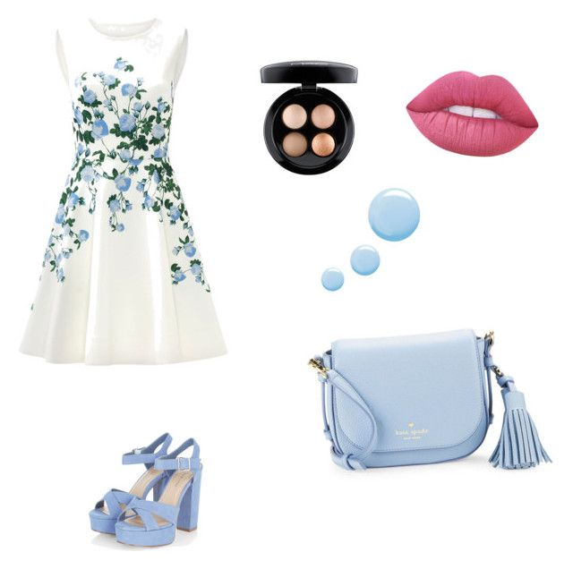 """""""h.k"""" by hanika15 on Polyvore featuring мода, ERIN Erin Fetherston, Kate Spade, Lime Crime, Topshop и MAC Cosmetics"""