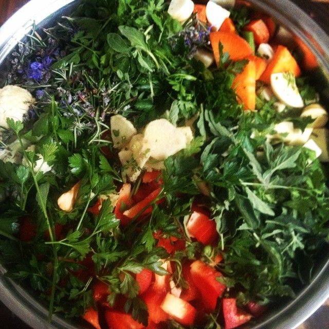 So begins another home made pasta sauce. Will blog its recipe on indigoandpeace.wordpress.com #vegetarian #vegan #recipe #easymeal #healthyeating #pastasauce #herbs #rootvegetables #love #colours
