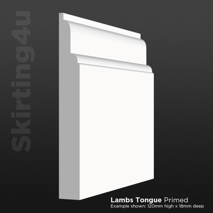 Lambs Tongue MDF Skirting Board