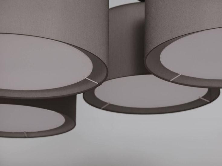 Lampadario in tessuto NOON 7 by ZEITRAUM design El Schmid