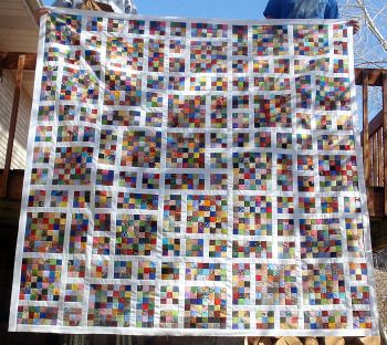 """growing up odd...another scrappy 2"""" block quilt, maybe for when I ever can…"""