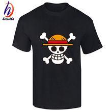 Una Pieza de la camiseta 2017 de La Moda de la Ropa Del Anime Japonés Color de Fondo Luffy Camiseta de Algodón Para Hombre Y Mujer, de la Marca Camiseta, GT446