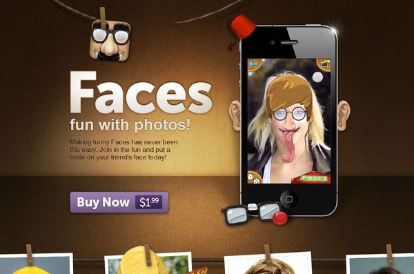 Faces / makefac.es / #dark #app #iphone #ios #face #singlepage