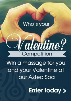 Win a massage for two in our Aztec Spa. Upload a picture of your Valentine for a chance to win! Click here to enter: http://ow.ly/XAYYa