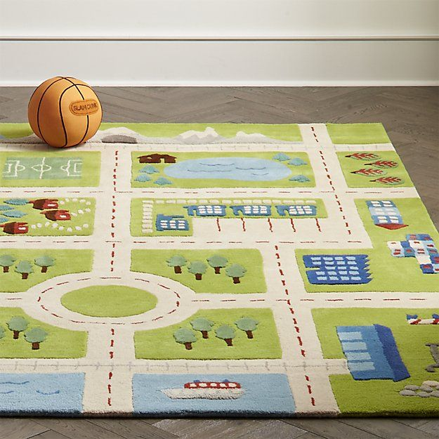 Kids Road Play Rug Crate And Barrel
