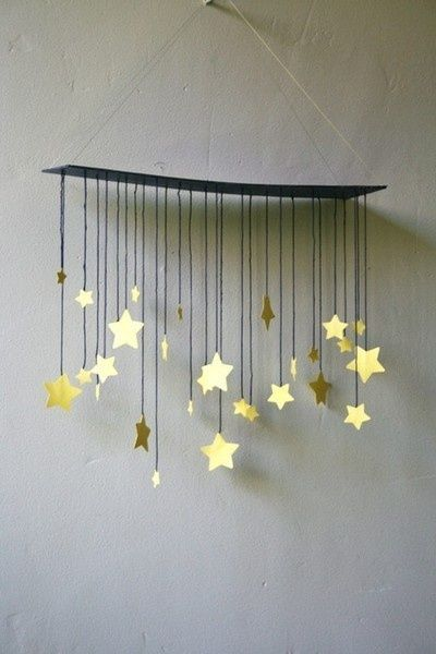 This is so cute! Would be great for a baby's room, I would replace th stars with little birds or flowers