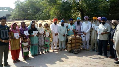 Akali Dal is committed to the welfare of the state's people and its leaders are ensuring the implementation of all welfare schemes. Senior leaders SR Kaler MLA Jagraon and Gurpreet singh Raju khanna distributed 6-month stock of wheat to beneficiaries in their constituency.  #progressivepunjab #akalidal