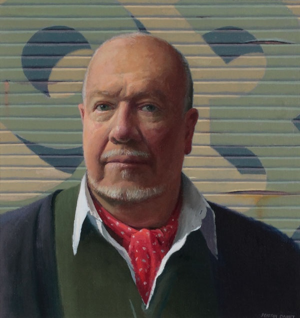 Jeffrey Smart. Self Portrait 1993. oil on canvas