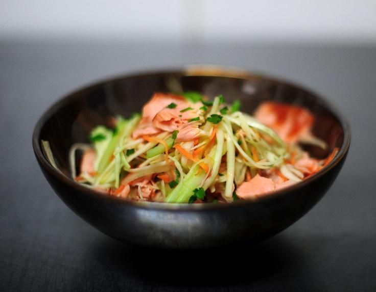 Hot Smoked Salmon Coleslaw.