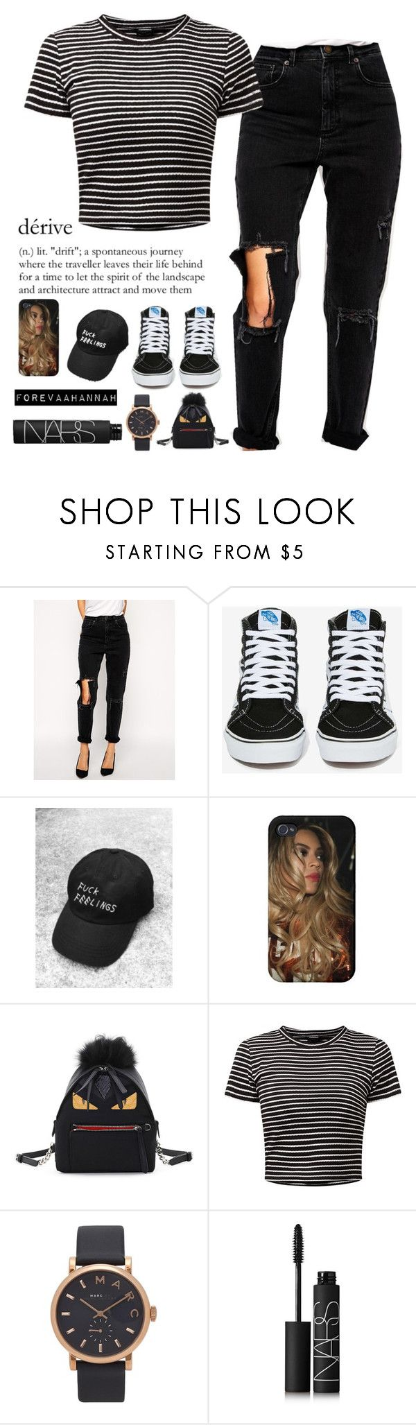 """""""Lil Yacthy-Broccoli"""" by forevaahannah ❤ liked on Polyvore featuring ASOS, Vans, Fendi, Marc Jacobs and NARS Cosmetics"""