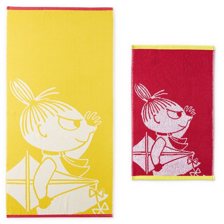 This lovely�Little My hand�towel and bath towel set by Finlayson presents a cheerful�pattern with Little My�in a yellow and red colouring. The towel is made of 100 % cotton and is a great companion at home or at the summer cottage. Size 30 x 50 cm, 70 x 140 cm. Special edition!Finlaysonin ihastuttavan�pyyhesetin kuvituksessa n�hd��n Pikku Myy, v�rin� keltainen ja punainen. K�sipyyhe on 100 % puuvillaa ja se sopii yht� hyvin kotiin kuin kes�m�killekin. Koko 30 x 50 cm, 70 x 140 cm…
