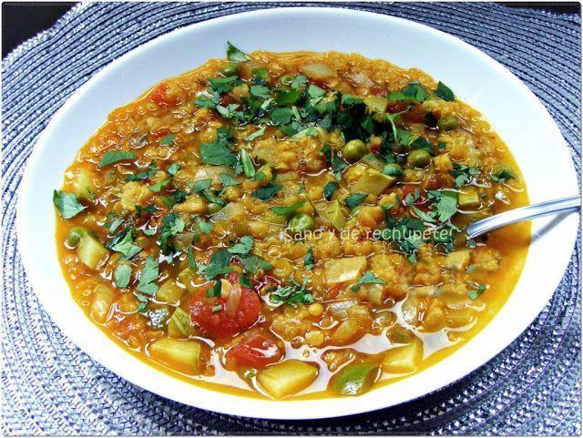 Sopa india de lentejas con verduras, Receta Petitchef