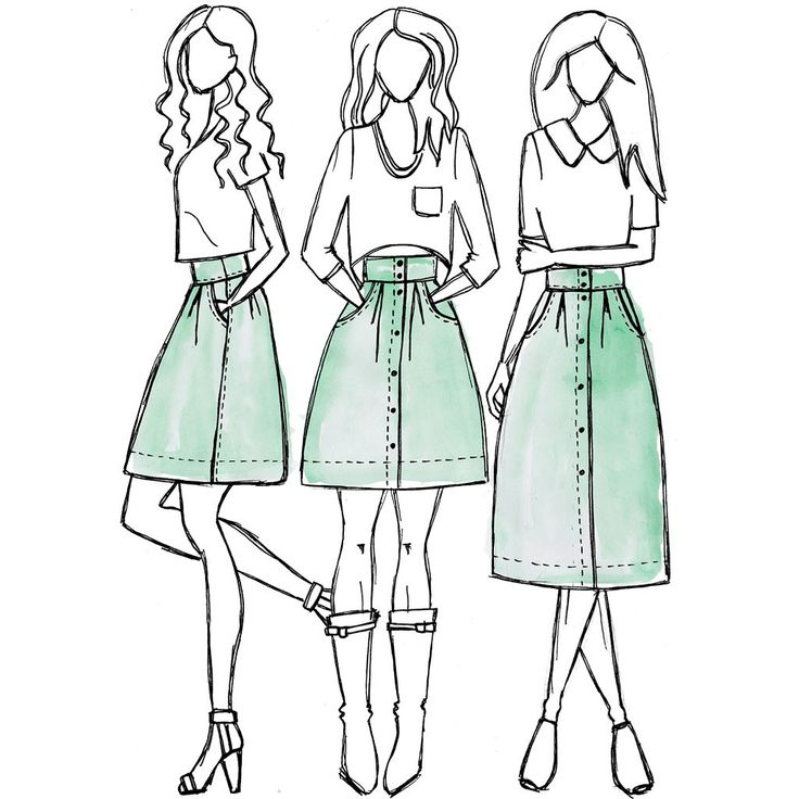 Kelly skirt sewing pattern