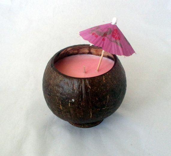 Coconut Shell Candle choose scent decorative by NorthernLitesGifts