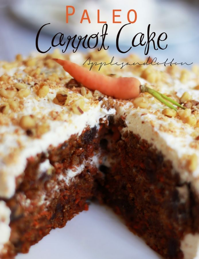 Carrot Cake -- Contains nuts. Has egg but is dairy-free. Use butter option of your choice. [gluten-free, vegetarian, paleo, grain-free]