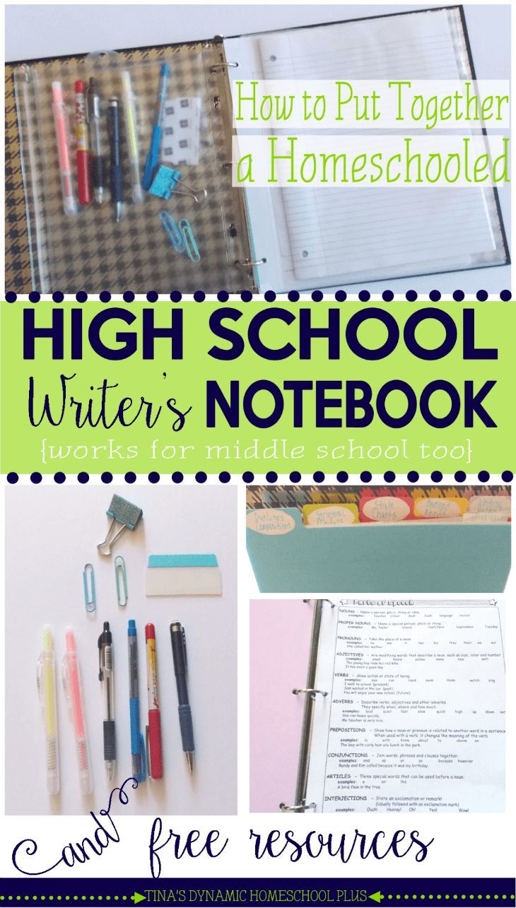 17 best images about high school homeschool how to put together a homeschooled high school writer s notebook and resources this setup