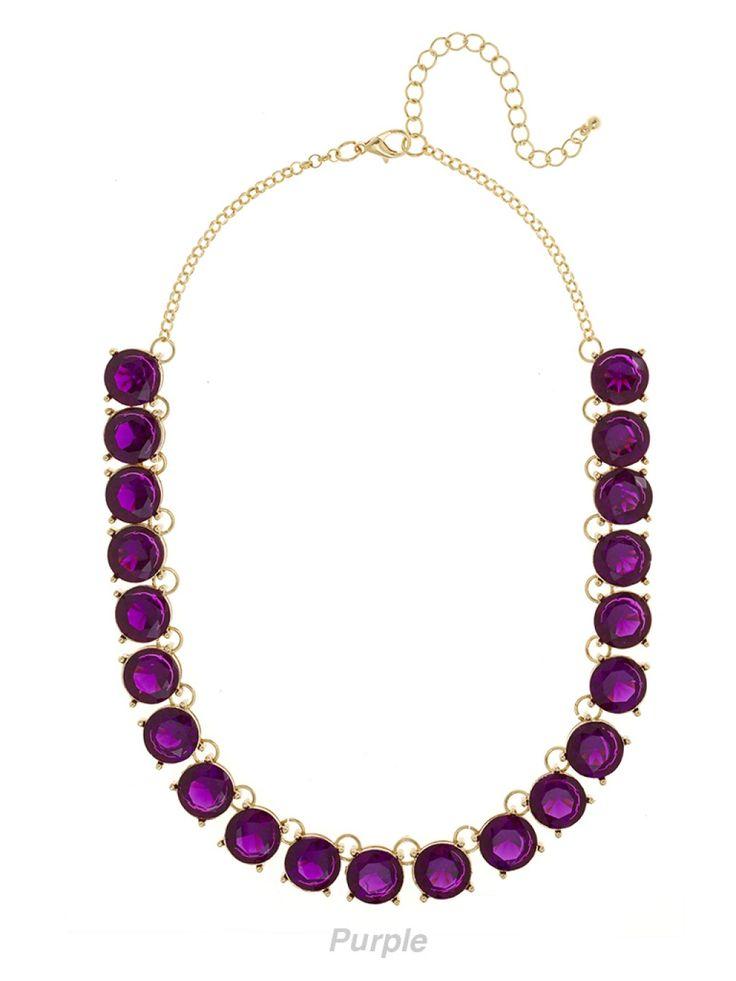 Our Bijou Gem Strand Is A Stunner In Purple Jewels Baubles Pinterest Gems