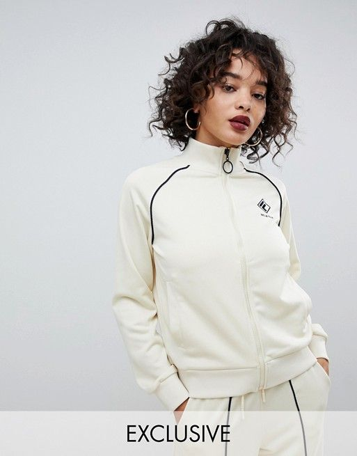 42feb04db457 Fila tracksuit jacket with chest logo and contrast piping in rib knit two- piece