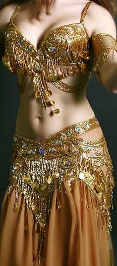 Beautiful gold, Belly Dance costume.