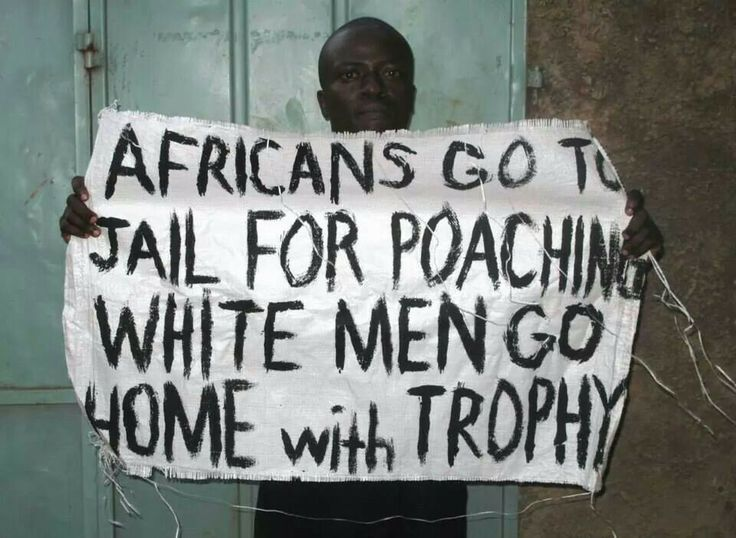 Africans go to jail for poaching. White men go home with trophy.