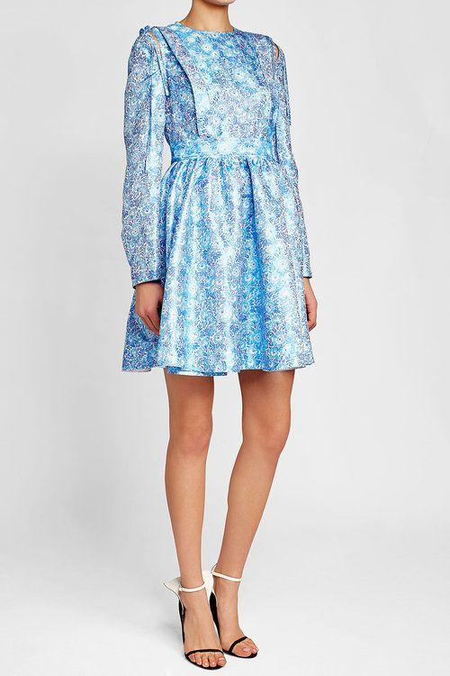 CALVIN KLEIN 205W39NYC -  Brocade Mini Dress with Silk | STYLEBOP