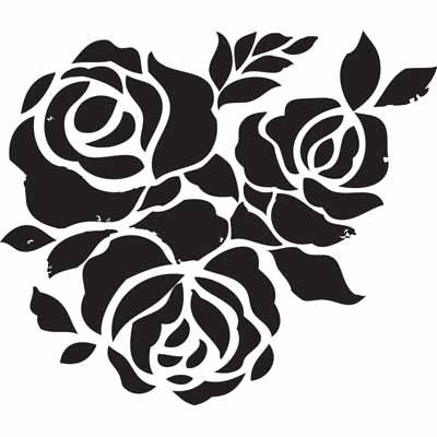 Free Stencils, can be used as a coloring page #rose #coloring page
