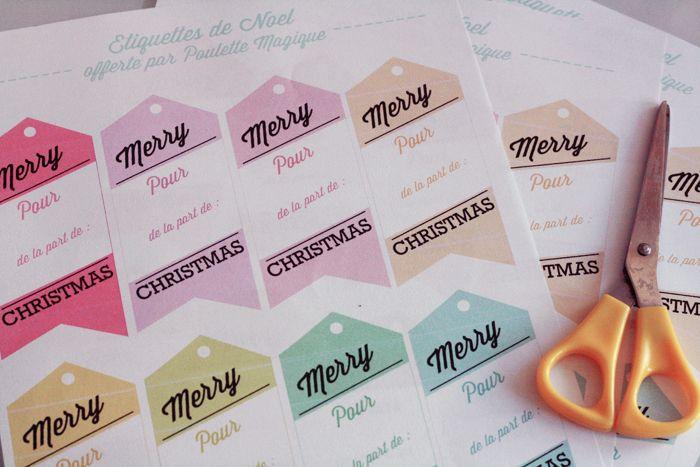 étiquettes de noel / gift tag
