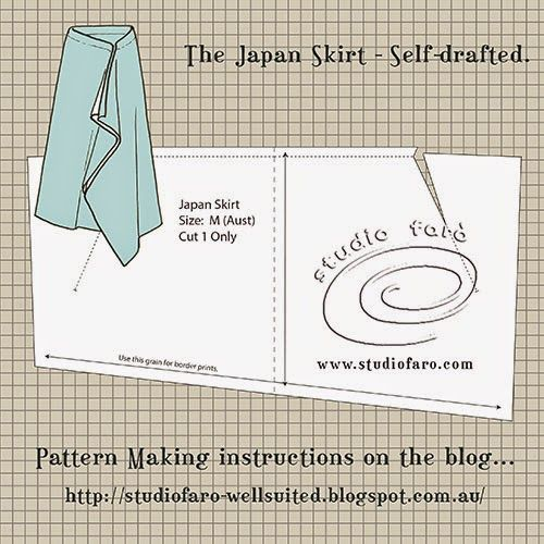 well-suited: Pattern Puzzle - The Japan Skirt - no block required!
