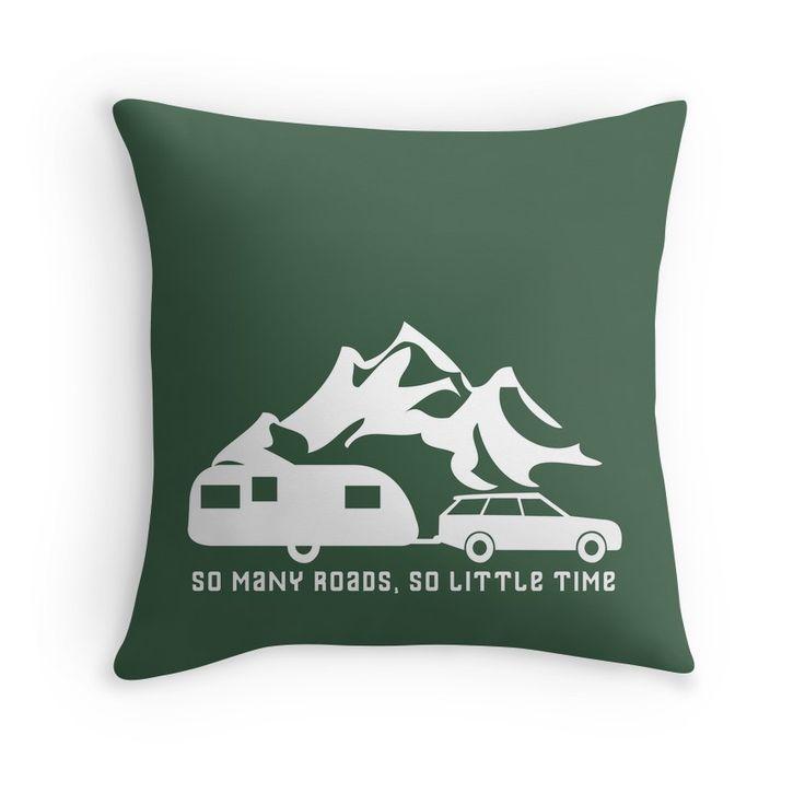 So Many Roads So Little Time Caravan Camping Motorhome mountain range cushion  #caravancushion #caravanpillow #caravandecor #caravangift