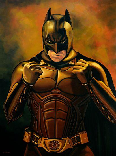 Nieuw in mijn Werk aan de Muur shop: Batman The Dark Knight schilderij