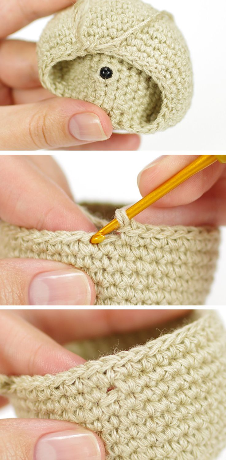 Amigurumi tutorial: Leaving a little hole for your safety eyes or joints // Kristi Tullus (spire.ee)