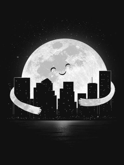 good night  by carbine.  Isn't t amazing the things you can do with the moon? Look at this.  Also, I pinned another one. Find it on my boards.