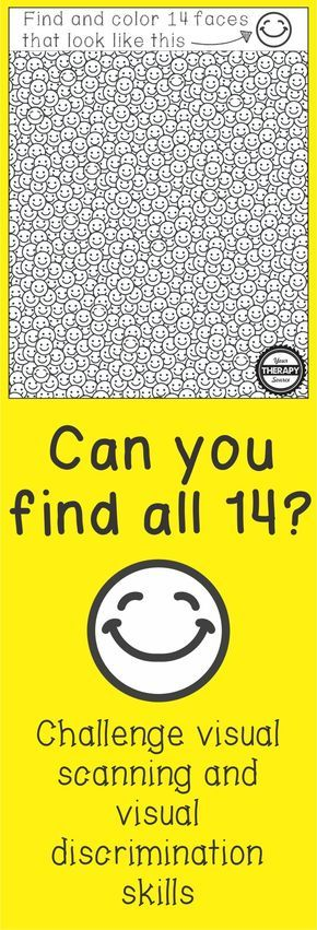 Smile Find - Visual Scanning Visual Discrimination Activity - Your Therapy Source