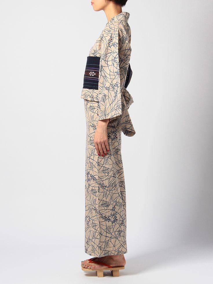 竺仙 |奥州小紋の浴衣 |すすき