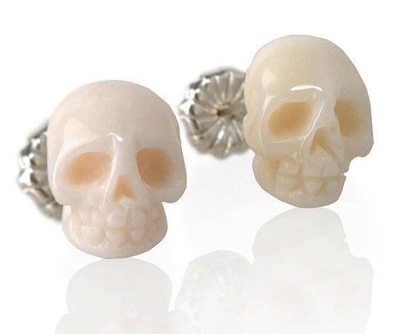 skull earrings by sarah richey jewelry #skull #earrings