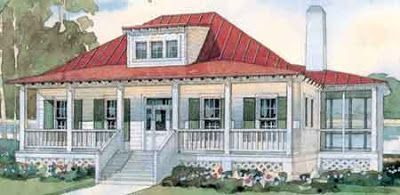 Beach Cottage With Metal Roof And Wrap Porch Bermuda
